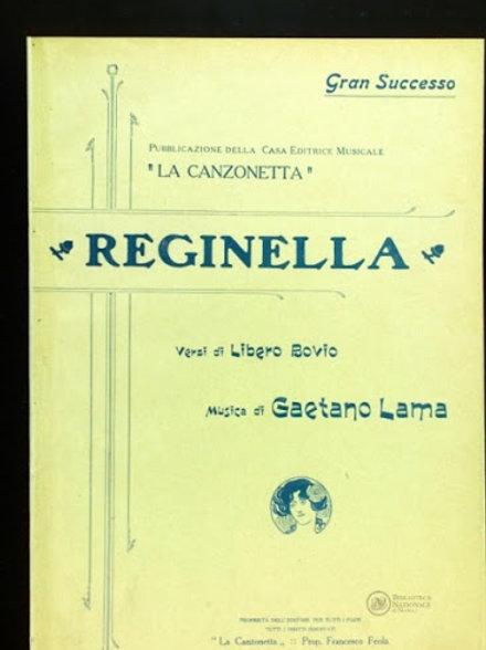 """""""Reginella"""" - sheet music"""