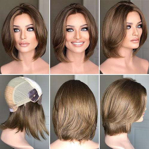 W243 Mckenna Virgin European Human Hair Silk Top  Wig Bob Cut
