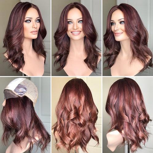 """W306 Mckenna Premium Human Hair Silk Top Wig 19-20"""""""