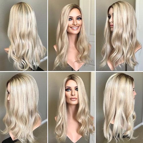 T21 Mckenna Premium Human Hair Topper 8x8 21'