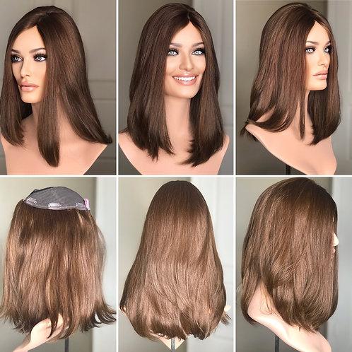 """T62 Mckenna Premium Human Hair Topper 8x8 16"""""""