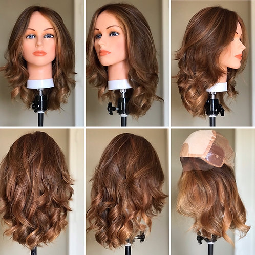 W94 Mckenna Premium Human Hair  Full Wig 16'