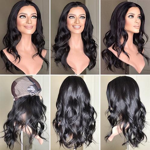 """W247 Mckenna Premium Human Hair Silk Top Wig 22"""""""