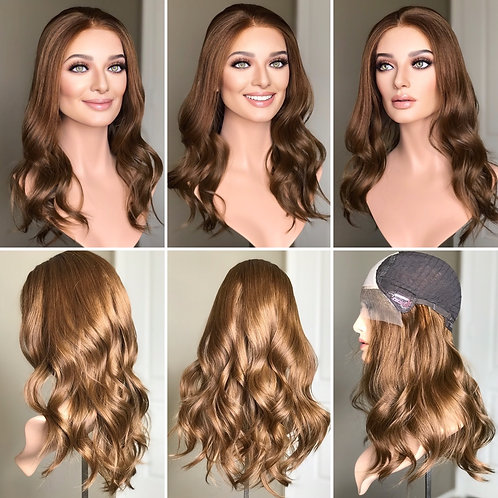 "W228 Mckenna Premium Human Hair Lace Top Wig 20"""