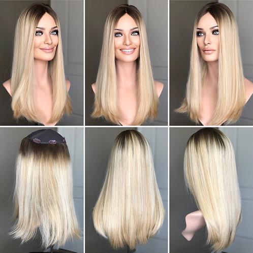 """T83 Mckenna Premium Human Hair Topper 8x8 21"""""""