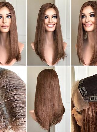 """T41 Mckenna Premium Human Hair Topper 6x6 18"""""""