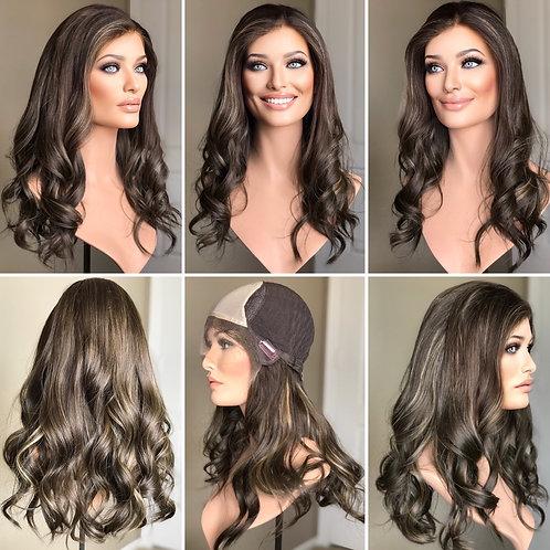 "W201 Mckenna Premium Human Hair Lace Top Wig 21"""