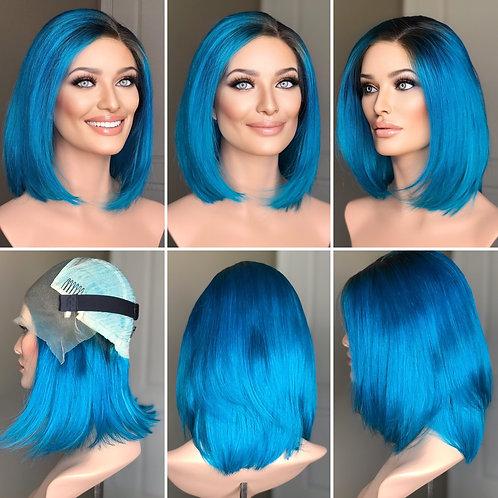 "W235 Mckenna Budget Line Glueless Lace Wig 14"" Bob Cut"