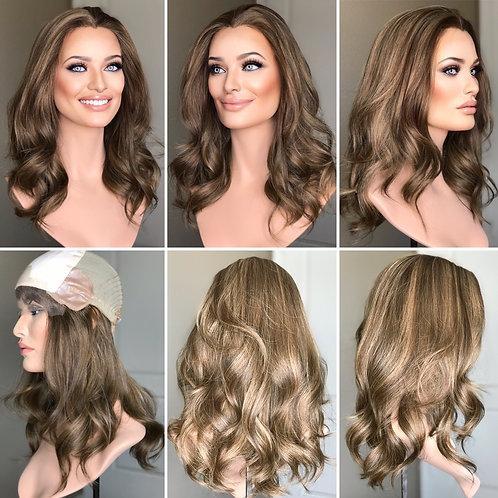 """W277 Mckenna Premium Human Hair Silk Top Wig 18-19"""""""