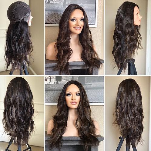 W60 Mckenna Premium Human Hair Full Wig 25'