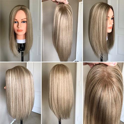 T23 McKenna Premium Human Hair Topper 6x6 16'