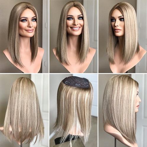 """T31 McKenna Premium Human Hair Topper 6x6 16"""""""