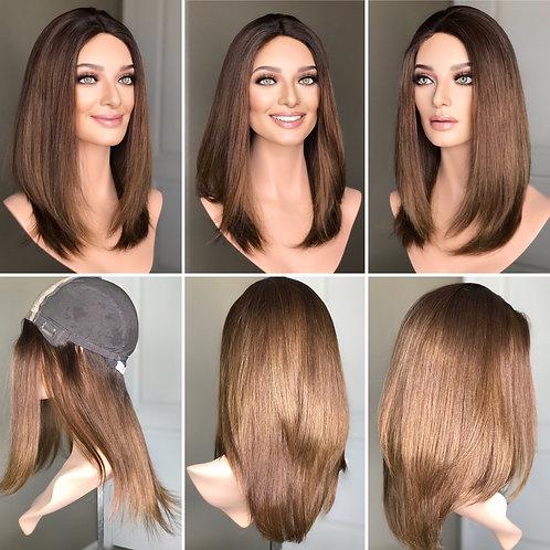 """W234 Mckenna Premium Human Hair Silk Top Wig 20"""""""