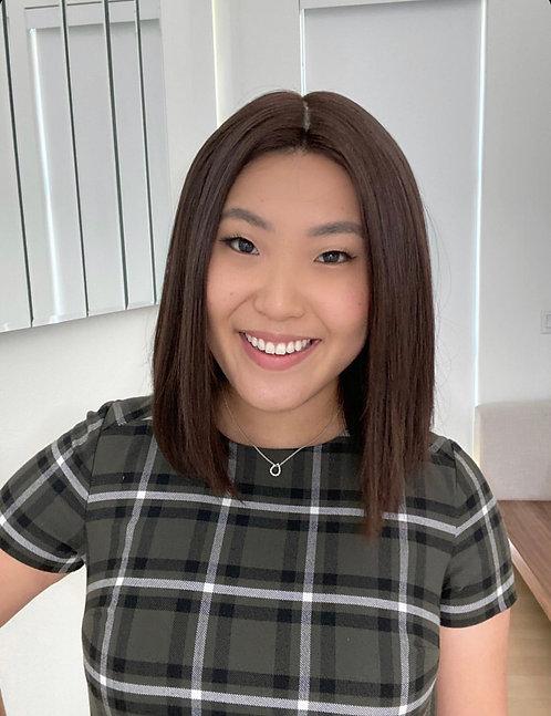 W23 Mckenna Full Wig Premium Human Hair in Bob Cut 12'