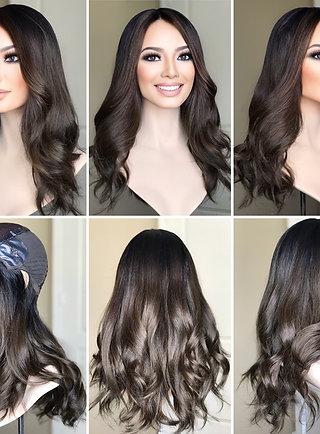 """W311 Mckenna Premium Human Hair Silk Top Wig 21-22"""""""