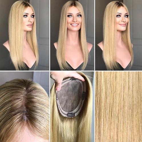 "T108 Mckenna Remy Human Hair Mono Topper 6x7 20"""