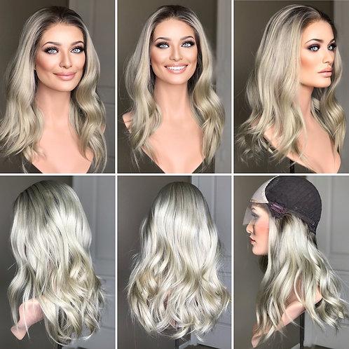 "W225 Mckenna Premium Human Hair Lace Top Wig 20"""