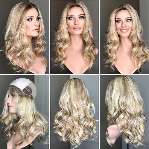 """W261 Mckenna Premium Human Hair Silk Top Wig 22"""""""