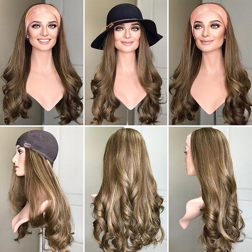 """W286 Mckenna Premium Human Hair Band/Hat Fall 25"""""""