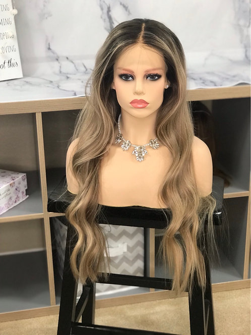 W56 Mckenna Human Hair Full Wig 26'
