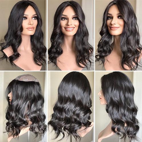 """T67 Mckenna Premium Human Hair Topper 7x7 18"""""""