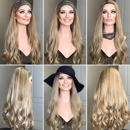 """W292 Mckenna Premium Human Hair Band/Hat Fall 25"""""""