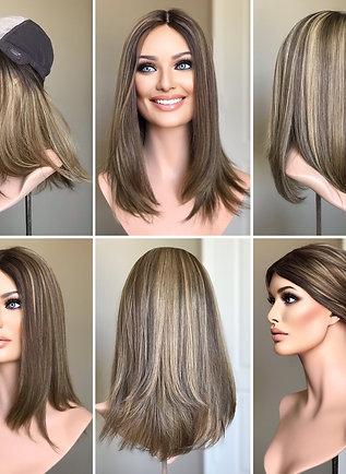 W107 Mckenna Premium Human Hair Wig Low Density 18'