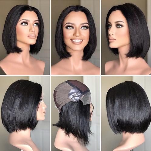 W259 Mckenna Premium Human Hair Silk Top Bob Cut