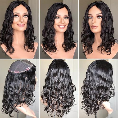 """T80 Mckenna Premium Wavy Human Hair 9x9 18"""""""