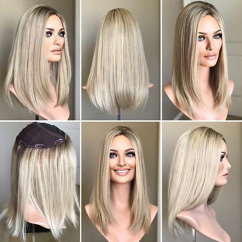 """T28 Mckenna Premium Human Hair Topper 8x8 18"""""""