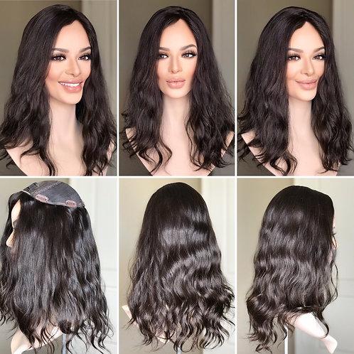 """T99 Mckenna Wavy Premium Human Hair 8x8 18-19"""""""
