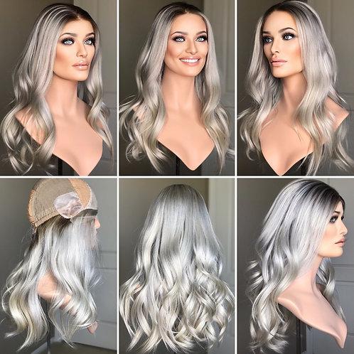 "W253 Mckenna Premium Human Hair Lace Top Wig 20"""
