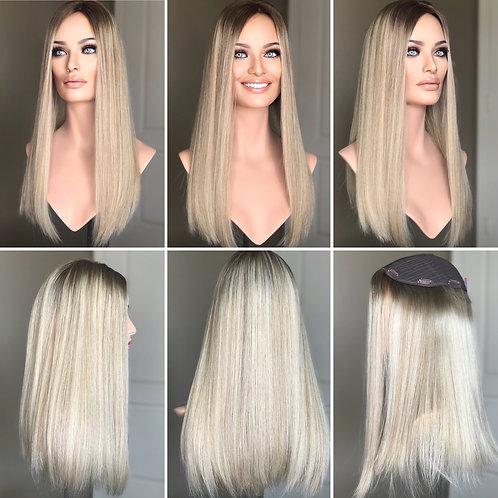 """T106 Mckenna Premium Human Hair Topper 8x8 20"""""""