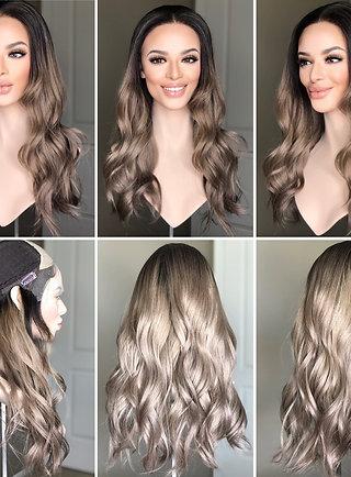 "W237 Mckenna Premium Human Hair Lace Top Wig 24"""
