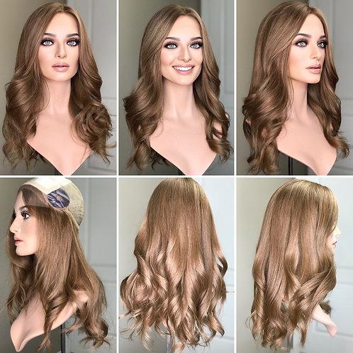 """W284 Mckenna Premium Human Hair Silk Top Wig 22"""""""