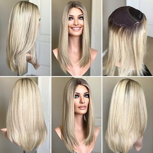 T25 Mckenna Premium Human Hair Topper 9x9 18'