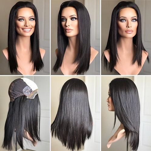 """W212 Mckenna Premium Human Hair Silk Top Wig 21"""""""
