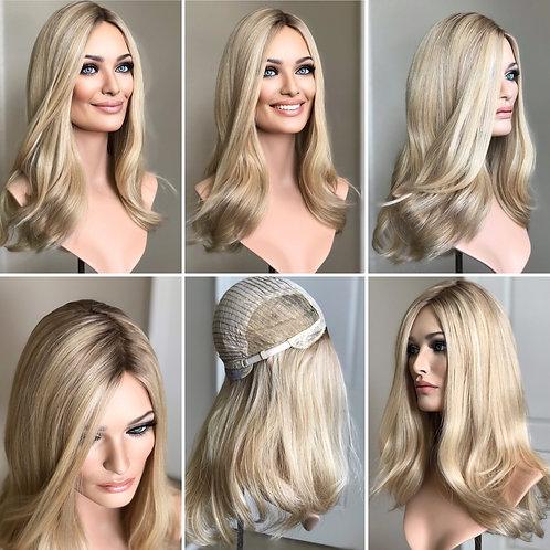 "W83 Mckenna Premium Human Hair Full Wig 20"""