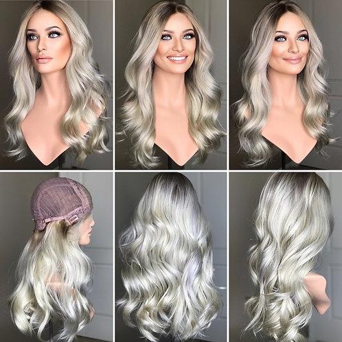 "W251 Mckenna Premium Human Hair Lace Top Wig 24"""