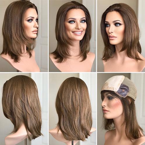 """W149 Mckenna Virgin European Human Hair Wig 14"""""""