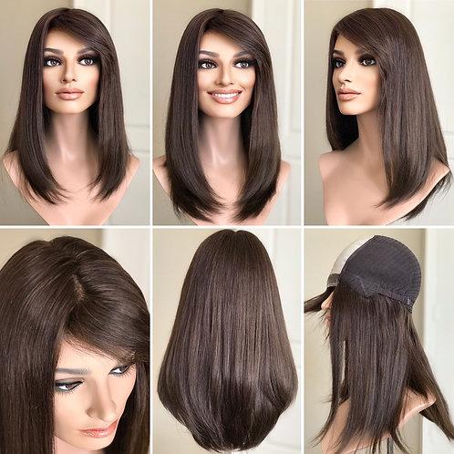 """W148 Mckenna Premium Human Hair Wig  20"""""""