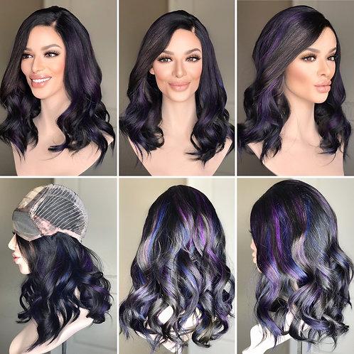 """W256 Mckenna Premium Human Hair Silk Top Wig 20"""""""