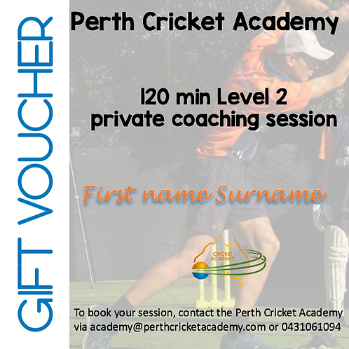 Gift voucher private coaching (2 hrs)