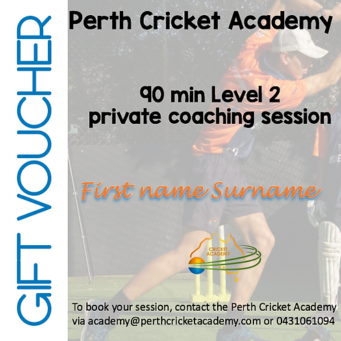 Gift voucher private coaching (1.5 hrs)