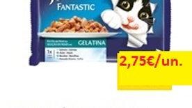 comida húmida para gato fantastic banquete do mar em gelatina Purina Felix