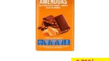 chocolate leite com amêndoas Amanhecer R 100gr.