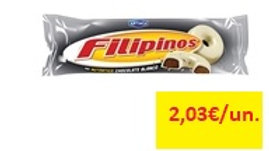 bolachas cobertura chocolate leite Filipinos 135gr.
