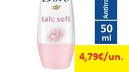 desodorizante roll on talco Dove 50ml.