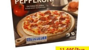 pizza forno de lenha congelada peperoni Amanhecer R 350gr.