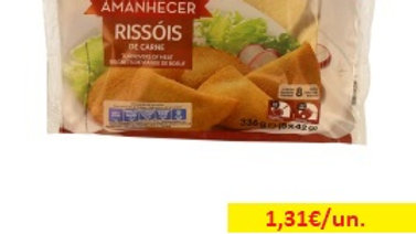 rissóis de carne congelados Amanhecer R